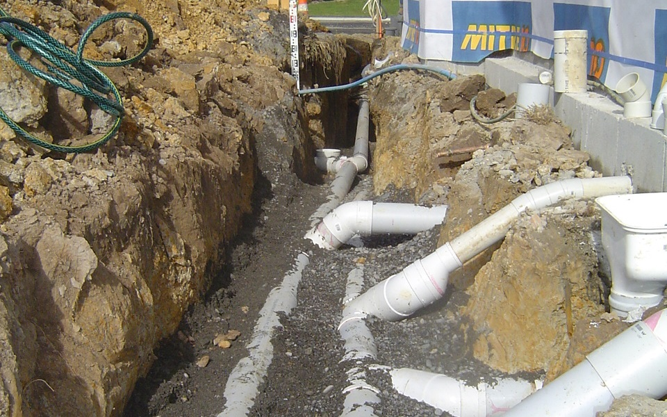 Drainlaying in Wairarapa
