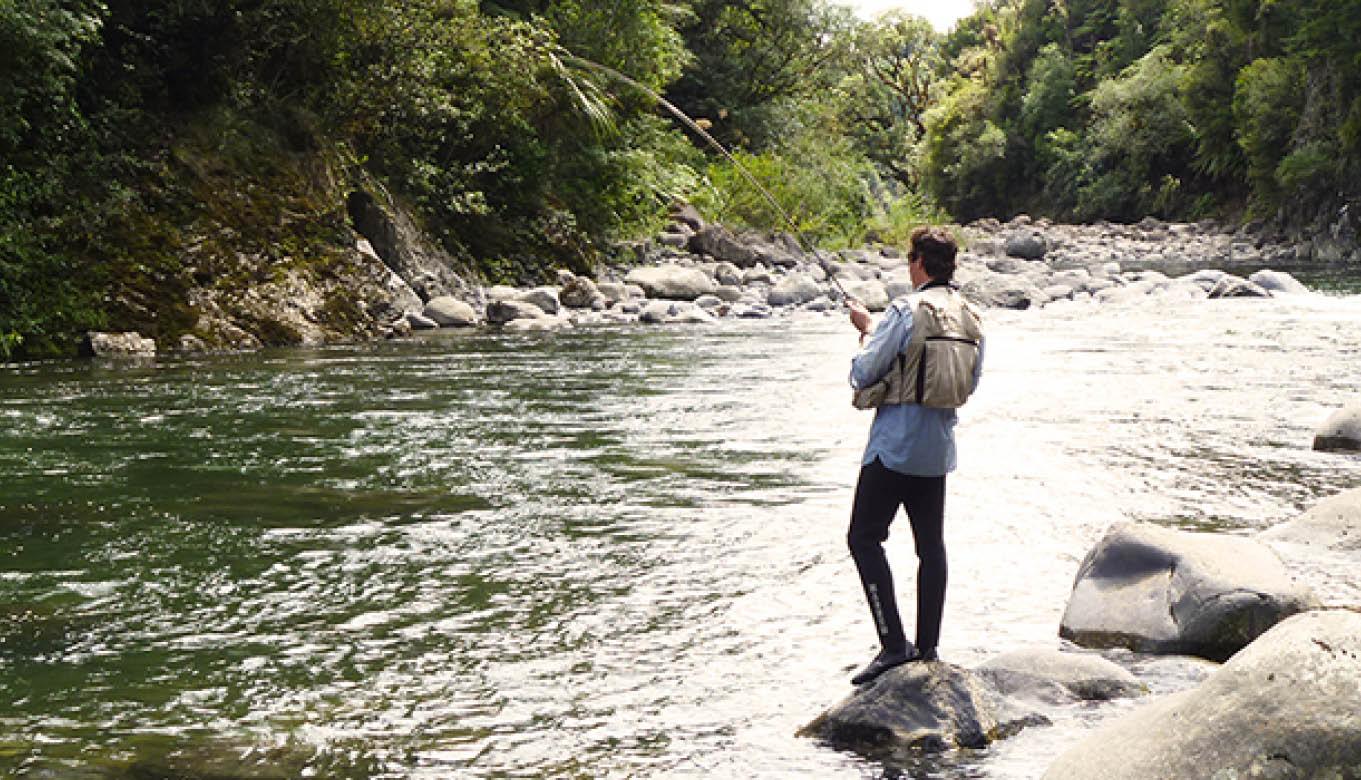 Fishing at Ruapehu