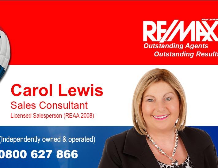 Carol Lewis - Remax Go for Sold MREINZ